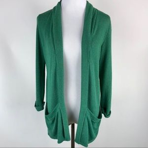 Pins and Needles large green knit cardigan